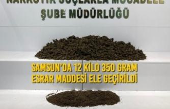 Samsun'da 12 Kilo 350 Gram Esrar Maddesi Ele Geçirildi
