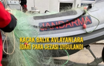 Samsun'da Kaçak Balık Avlayanlara İdari Para Cezası Uygulandı