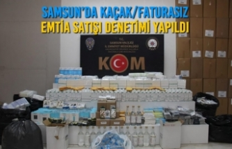 Samsun'da Kaçak/Faturasız Emtia Satışı Denetimi Yapıldı