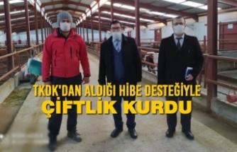 TKDK'dan Aldığı Hibe Desteğiyle Çiftlik Kurdu