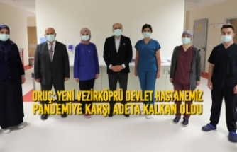 Yeni Vezirköprü Devlet Hastanemiz Pandemiye Karşı Adeta Kalkan Oldu