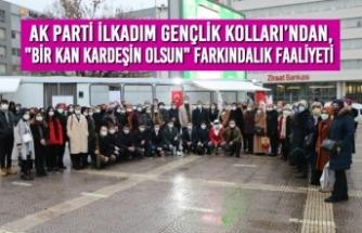 """AK Parti Gençlik Kolları'ndan, """"BİR KAN KARDEŞİN OLSUN"""" Farkındalık Faaliyeti"""