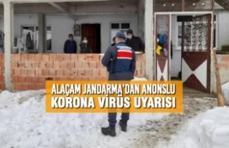 Alaçam Jandarma'dan Anonslu Korona Virüs Uyarısı
