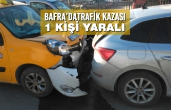 Bafra'da Zincirleme Trafik Kazası:1 Yaralı