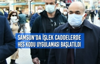 Samsun'da İşlek Caddelerde HES Kodu Uygulaması Başlatıldı