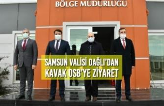 Samsun Valisi Dağlı'dan Kavak OSB'ye Ziyaret