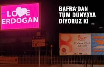 Bafra'dan New York'a 'Love Erdoğan' Göndermesi