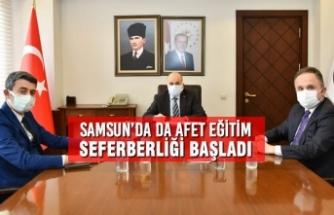 Samsun'da da Afet Eğitim Seferberliği Başladı
