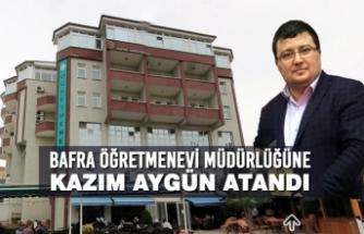 Bafra Öğretmenevi Müdürlüğüne Kazım Aygün Atandı