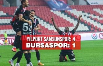 Yılport Samsunspor:4– Bursaspor: 1