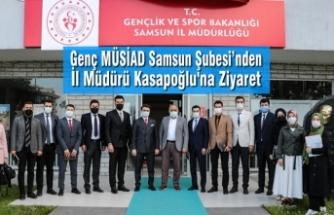 Genç MÜSİAD Samsun Şubesi'nden İl Müdürü Kasapoğlu'na Ziyaret