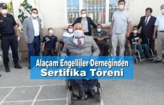 Alaçam Engelliler Derneğinden Sertifika Töreni