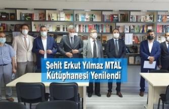 Şehit Erkut Yılmaz MTAL Kütüphanesi Yenilendi