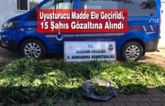 Uyuşturucu Madde Ele Geçirildi, 15 Şahıs Gözaltına Alındı
