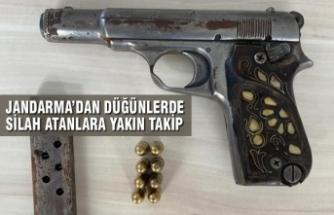 Bafra'da İlçe Jandarma'dan Düğünlerde Silah Atanlara Yakın Takip