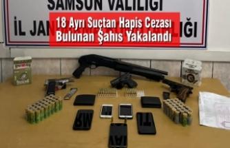 Samsun'da 18 Ayrı Suçtan Kesinleşmiş Cezası Bulunan Şahıs Yakalandı