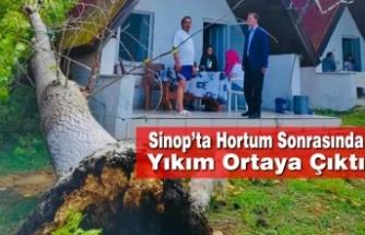 Sinop'ta Hortum Sonrasında Yıkım Ortaya Çıktı