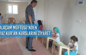 Alaçam Müftüsünden Yaz Kur'an Kurslarını Ziyaret