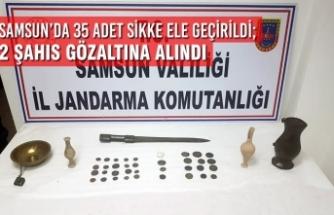 Samsun'da 35 Adet Sikke Ele Geçirildi; 2 Şahıs Gözaltına Alındı