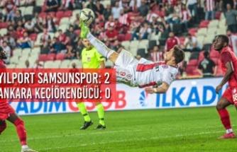 Yılport Samsunspor: 2 – Ankara Keçiörengücü: 0