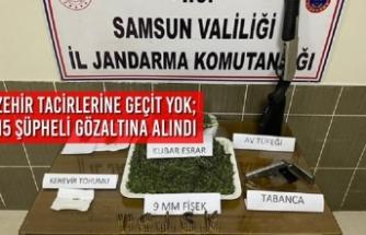 Samsun'da Zehir Tacirlerine Geçit Yok; 15 Şüpheli Gözaltına Alındı