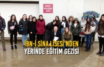İbn-i Sina Lisesi'nden Yerinde Eğitim Gezisi