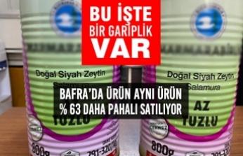 Bafra'da Ürün Aynı Ürün % 63 Daha Pahalı Satılıyor