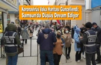 Koronavirüs Vaka Haritası Güncellendi; Samsun'da Düşüş Devam Ediyor