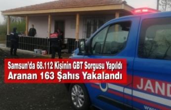 Samsun'da 68.112 Kişinin GBT Sorgusu Yapıldı, Aranan 163 Şahıs Yakalandı