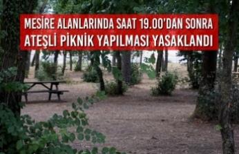 Mesire Alanlarında Saat 19.00'dan Sonra Ateşli Piknik Yapılması Yasaklandı