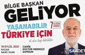 Temel Karamollaoğlu, Partisinin 7. İl Kongresi için Samsun'a Geliyor