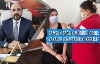 Samsun Sağlık Müdürü Oruç: Vakalar 6 Haftadır Yükselişte