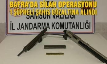 Bafra'da Silah Operasyonu; 1 Gözaltı