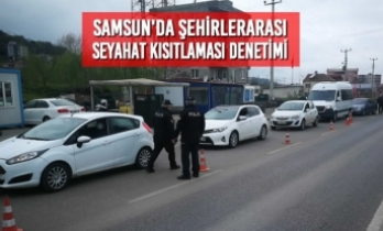 Samsun'da Şehirlerarası Seyahat Kısıtlaması Denetimi