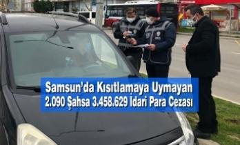 Samsun'da Kısıtlamaya Uymayan2.090 Şahsa 3.458.629 ₺ İdari Para Cezası