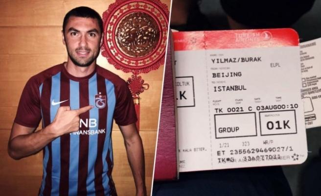 Burak Yılmaz, Trabzonspor için yola çıktı