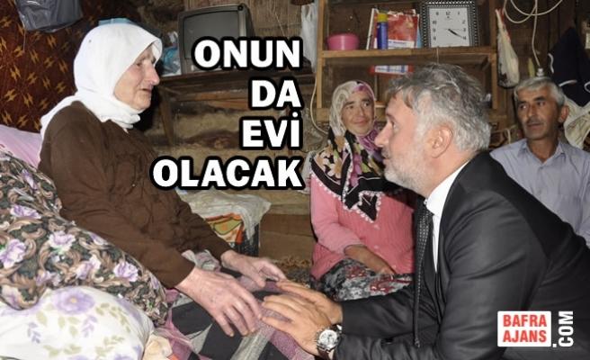 Ayvacık Belediyesinden Yaşlı Kadına Ev Sözü