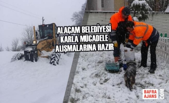 Alaçam Belediyesi Karla Mücadele Çalışmalarına Hazır
