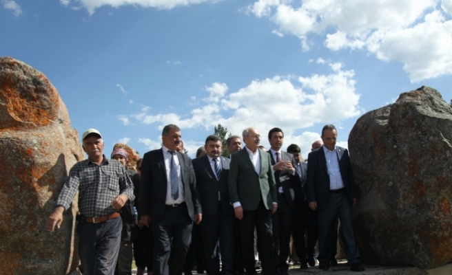 Kılıçdaroğlu Alacahöyük'ü gezdi
