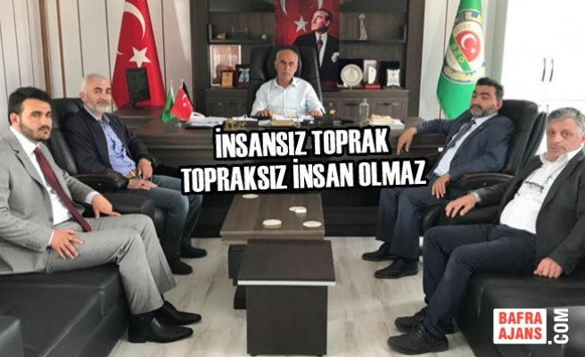 Mustafa Öcal Bafra Ziraat Odasını Ziyaret Etti