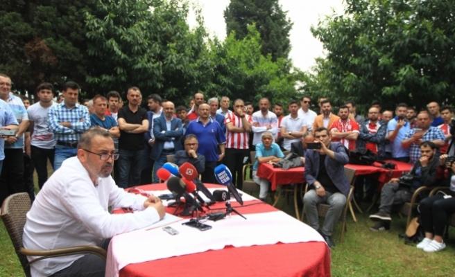 Samsunspor'da İsmail Uyanık başkan adaylığını açıkladı