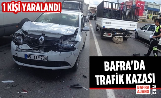 Bafra'da Trafik Kazası; 1 Yaralı
