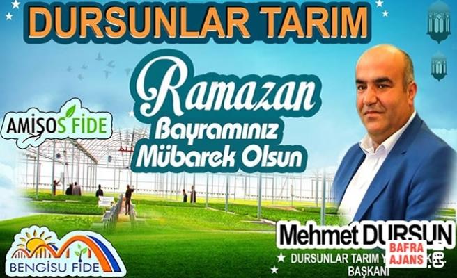 İşadamı Mehmet Dursun'dan Ramazan Bayramı Mesajı