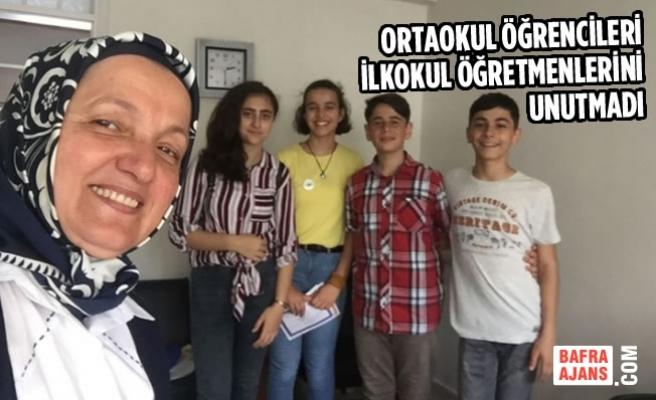 Ortaokul Öğrencileri İlkokul Öğretmenlerini Unutmadı
