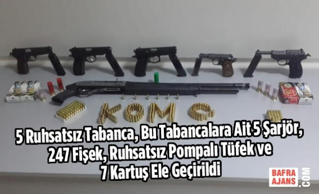 Samsun'da Kaçakçılıkla Mücadele; 5 Gözaltı