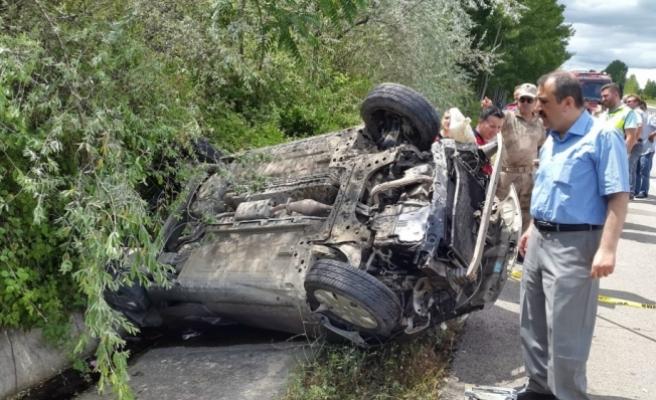 Tokat'ta otomobil devrildi: 1 ölü, 1 yaralı