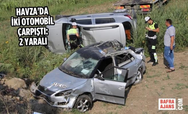 Havza'da İki Otomobil Çarpıştı: 2 Yaralı