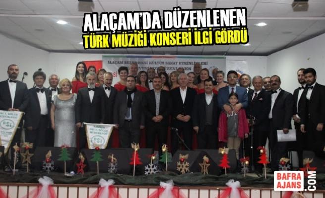 Alaçam'da Türk Müziği Konseri İlgi Gördü