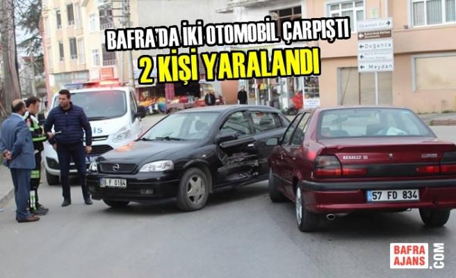 Bafra'da İki Otomobil Çarpıştı: 2 Yaralı