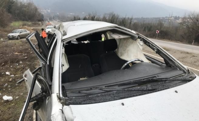 Karabük'te trafik kazası : 1 ölü 4 yaralı